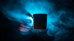 Brew? (FadeToBlackLP) Tags: brew tetley tea atmosphericbrew threateningbeverage backlight backlit blue orange