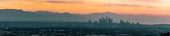 DLTA Morning Panorama (vandusenerik) Tags: red dtla sunrise morning los angeles panorama cityscape clouds orange california nikon d800 nikkor 200500mm layers