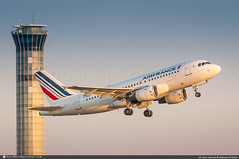 [CDG.2012] #Air.France #AF #AFR #Airbus #A319 #F-GRXF #awp (CHRISTELER / AeroWorldpictures Team) Tags: airfrance af afr airbus french airlines a319111 plane aircraft airplane davwg planespotting paris charlesdegaulles roissy cdg lfpg france takeoff cfmi cfm56 tower atc twr sunset spotter aeroworldpictures awp team chr nikon d300s nikkor lightroom
