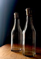 Travel Liquor Bottles (blackthorne56) Tags: vut glass liquor decanter bottles travel travelling antique vintage old