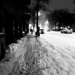 Une nouvelle tempête qui commence... encore ! ... (woltarise) Tags: streetwise iphone7 hiver tempête hivernale début outremont quartier montréal 17h30pm rafales vents neige