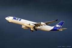 F-GLZK - JOON Airbus A340   CDG (Karl-Eric Lenne) Tags: fglzk airfrance joon storm light takeoff cdg apris lfpg roissy