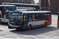 SW 37488 @ Kilmarnock bus station (ianjpoole) Tags: stagecoach western alexander dennis enviro 200mmc yw68oyg 37488 working route 3 hareshaw drive onthank sunnyside road shortlees