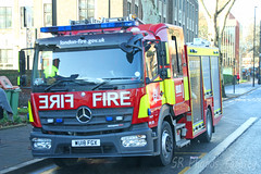 Mercedes Actros London Fire Brigade WU18 FGX (SR Photos Torksey) Tags: transport truck haulage hgv lorry lgv logistics road commercial vehicle freight traffic mercedes actros fire engine london brigade