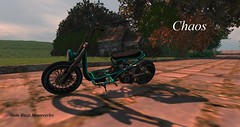 Chaos Morning (motobazzi) Tags: secondlife sl virtual mesh roxycyn motobazzi moto cycle motorcycle bike biker scooter road pasture landscape stone cottage rural serene picturesque shadows ride countryside
