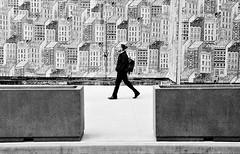 Striding through the Big Apple (Kenneth Laurence Neal) Tags: newyorkcity urban street streetphotography people blackandwhite blackdiamond monochrome monotone cities nikon nikond7100 sigma175028 cityscape absoluteblackandwhite