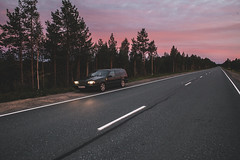 Volvo Karelia (ARTEMY KOZODAEV) Tags: volvo sweden russia volvocars 850 p80 wagon estate car road trip clouds forest sunset canon eos 6d 28mm lens wide trees transport