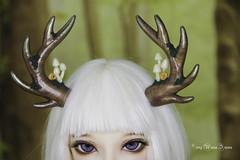 FS Moss Antlers with mushrooms MSD (AnnaZu) Tags: mushrooms antlers deer horns moss brown minifee summer event head 2017 nanuri bjd fairyland doll polymer clay magnetic custom order annazu annaku vesnushkahandmade etsy