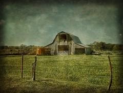 The trailer.... (Sherrianne100) Tags: fence trailer barn rural ozarks missouri
