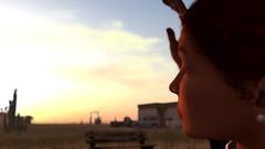 Desert sunset (Myra Wildmist) Tags: secondlife sl myrawildmist virtualart virtualphotography virtualworlds sun desert profile