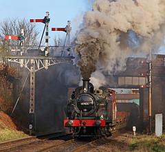 47406 (gareth46233) Tags: 47406 jinty lms loughborough gcr great central railway signals clag smoke