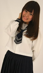 Bite Your Lip (Beam Up That Glance!) (emotiroi auranaut) Tags: schoolgirl beautiful gorgeous pretty lovely cute female charming asian japanese smiling grinning beaming staring college attractive selfconfidence student style fashion uniform