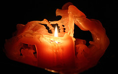 old burnt down (scott1346) Tags: light candle canont3i heat colors orange black inside melted wax stilllife abstract old burntmanyhrs 1001nights 1001nightsmagiccity 1001nightsmagicwindow he k