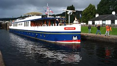 The Spirit of Scotland (WISEBUYS21) Tags: caledonian canal spirit scotland boat reflection reflections fort augustus loch ness billy connolly robin williams dark sky skies blue white inverness william scottish pleasure cruise ship sail sailing deep water highlands wisebuys21