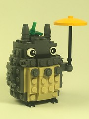 Tonari no Totoro - My Neighbor Totoro (Spawnwrithe) Tags: lego brickheadz totoro miyazaki chibi bus stop nekobus cute spirit forest umbrella fur plush moc afol creation ghibli japan tonari no