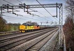 37175 at Brinklow (robmcrorie) Tags: colas class 37 37175 37219 6c37 willesden crewe basford hall freight engineers train brinklow warwickshire nikon d850