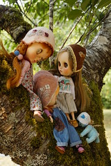 _DSC3787 (Lindy Dolldreams) Tags: blythedoll bear medveduska mayragallandcustomdolls chaoskatencomos tree