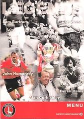Charlton Athletic v Bristol City (Charlton Athletic Programmes) Tags: charlton charltonathletic bristolcity menu 0809