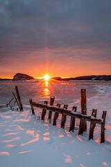 Utby sunset (englishgolfer) Tags: sweden sverige west coast västkusten uddevalla utby bohuslän ice snow nikon d7500 tamron 1750mm