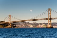 DSC_0022 (Kevin Kasmai) Tags: moon super day night light bright blue sky water waves bay california sanfrancisco bridge architecture iron streel round full landscape suspension west coast