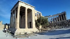 the Erechteion on Acropolis hill (routemates) Tags: europe athens greece antiquity mediterranean acropolis lycabetus parthenon