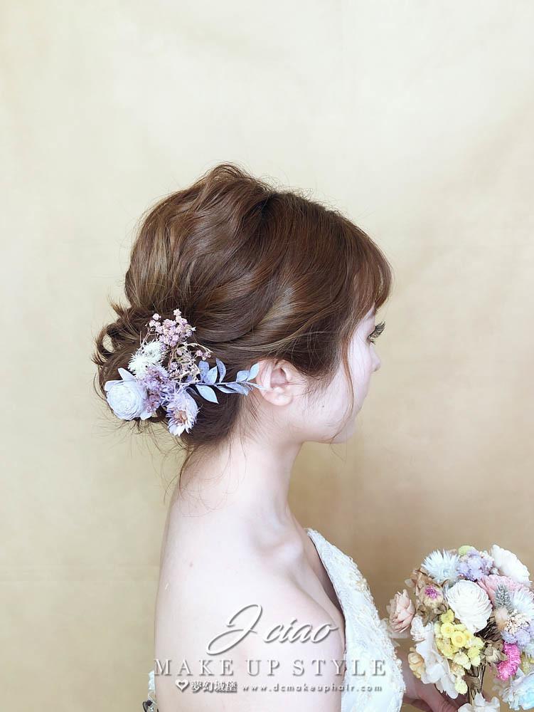 【新秘婕喬】新娘造型創作 / 短髮-盤髮