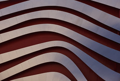 undulate.jpg (remiklitsch) Tags: petersenautomotivemuseum museum red silver metal steel architecture nikon remiklitsch street losangeles wilshire abstract art urban city corrugated design modern contemporary color