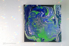pouring technique / 40x40cm canvas (photos4dreams) Tags: diy design hobby photos4dreams p4d photos4dreamz oneofakind ooak handmade handgemacht basteln pouring medium technique technik acryl leinwand canvas color colour colorful colourful parzellen silicon bastelzimmer