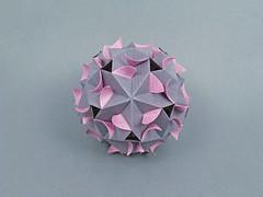 Валя, с Днём рождения! (masha_losk) Tags: kusudama кусудама origamiwork origamiart foliage origami paper paperfolding modularorigami unitorigami модульноеоригами оригами бумага folded symmetry design handmade art