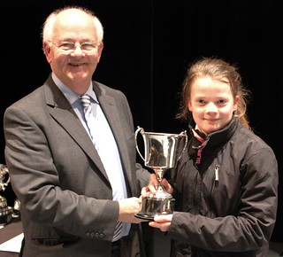 Isabel recieved the prize on behalf of the solo cornets