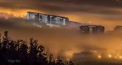 Niebla (Diego Rai) Tags: niebla fog ciudad city noche night nightscape huca oviedo asturias