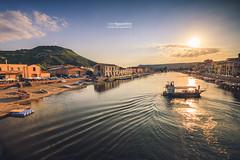 Bosa_180059 (ivan.sgualdini) Tags: 1635mm italy seaitaliano amazing boat bosa bridge canon city italia light magic reflections river sardegna sardinia sun sunset temo town water