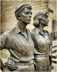 'Women of Steel' ......... (Alan Burkwood) Tags: sheffield yorkshire barkerspool womenofsteel bronze statue martinjenkins