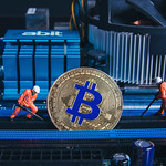 Two miners and Bitcoin on a Mother board thumbnail