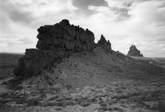 Igneous dike, Shiprock, New Mexico (Anita363) Tags: dike shiprock nm newmexico film scanned blackandwhite bw rock geology igneous