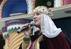 National dress (Lyutik966) Tags: headdress nationalclothes girl woman people face microphone russia moscow celebration portrait