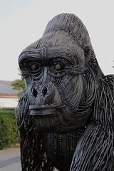 DJO (Joel Vallon) Bertrand le gorille (Thethe35400) Tags: sculpture escultura eskultura skulptur estatua scultura scukpture métal metal gorille primate primates singe bestiaire bestiaires monkey tximinoa affe mico mono scimmia macaco skulpturen
