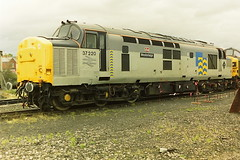 BRITISH RAIL 37220 WESTERLEIGH (bobbyblack51) Tags: british railways class 370 english electric type 3 coco diesel locomotive 37220 westerleigh petroleum livery gloucester horton road depot 1990