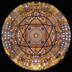 360° Mosque interior (Packing-Light) Tags: eurasia istanbul travel turkey tr mosque islam architecture religion muslim dome interior panorama prayer fisheye circle circular