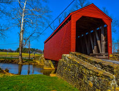 2019-04-06 Loys Station Covered Bridge-8848 (By The Bay Photos) Tags: frederickcounty maryland mdloysstation loysstationcoveredbridge coveredbridge covered bridge