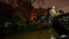 House Lights (TVZ Photography) Tags: westwoodlodge monton dukesdrive bridgewatercanal manchester northwestengland streetlight canal water night evening longexposure lowlight sonya7riii zeiss loxia 21mm