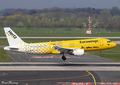 Eurowings (Hertz Livery) A320-200 D-ABDU (birrlad) Tags: dusseldorf dus international airport germany aircraft aviation airplane airplanes airline airliner airlines airways arrival arriving approach finals landing runway airbus a320 a320200 a320214 dabdu eurowings hertz livery decals titles colour scheme special