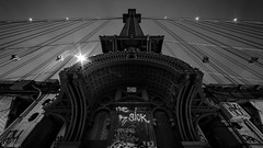 Manhattan Bridge (dansshots) Tags: dansshots nyc newyorkcity newyorkatnight nightphotography nightshot atnight manhattanbridge manhattanbridgeatnight nikon nikond750 nikonphotography rokinon rokinon14mm wideangle lookup lookingup alwayslookup bnw blackandwhite blackandwhitephotography blackandwhitephoto blackandwhitenewyorkcity picoftheday pictureoftheday explore urbanexploration urban