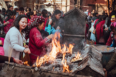 Burnt Offerings (danielhibell) Tags: kathmandu nepal travel asia discover explore world street streetphotography people religion culture ambience mood buddhism hinduism colour light praying moving special