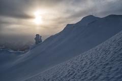 Eingeschneiter Baum im Sonnuntergang (stefangruber82) Tags: alpen alps tirol tyrol snow winter schnee sunset wolken clouds fog nebel
