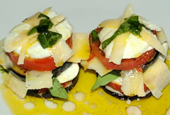 Aubergine, Tomato, Mozzarella, Parmigiano-Reggiano with Basil Oil (Tony Worrall) Tags: images photos photograff things uk england food foodie grub eat eaten taste tasty cook cooked iatethis foodporn foodpictures picturesoffood dish dishes menu plate plated made ingrediants nice flavour foodophile x yummy make tasted meal nutritional freshtaste foodstuff cuisine nourishment nutriments provisions ration refreshment store sustenance fare foodstuffs meals snacks bites chow cookery diet eatable fodder ilobsterit instagram forsale sell buy cost stock aubergine tomato mozzarella parmigianoreggiano basil oil cheese