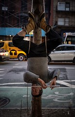 Upside-down. Only in NYC!!!! (cesar.toribio1218) Tags: nycphotography newyork thebigapple streetphotography citystreets peopleofnewyork strangethings music