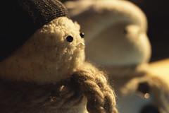 . (jlomax8) Tags: snowman stuffed macro scarf hat button sock