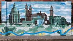 Die Elbe verbindet / Dresden - Magdeburg  - Hamburg (diwan) Tags: germany deutschland sachsenanhalt saxonyanhalt magdeburg stadt city elbuferpromenade wall wand graffiti strichcode elbe fluss dresdenmagdeburghamburg fotogruppe fotogruppemagdeburg farben colours dxo nikcollection plugin viveza2 canonef24105mmf4lisiiusm canoneos5dmarkiv canon eos 2019 geotagged geo:lon=11635492 geo:lat=52121286