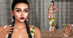 Dreams of Tropics (Dan Gericault Lol and XD 4Evah) Tags: secondlife sl slfashion aurealissl aurealis cotton genusproject ohemo livia nails appliers egozy skin egozystore egozyskin egozysl cosmopolitan equal10 accessevent thefacesl theface luneposes michanlashes michansl michan